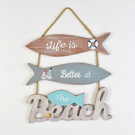 Placa Peixes Life
