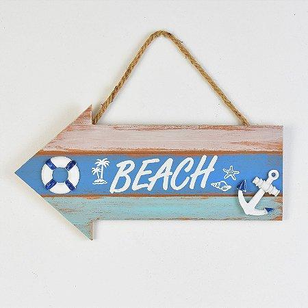 Placa Decor Seta Beach Âncora