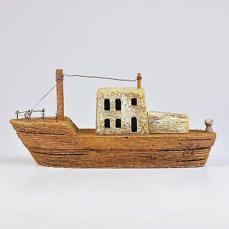 Barco Rústico com Led