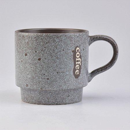 Caneca Modern Coffee Cinza Granite