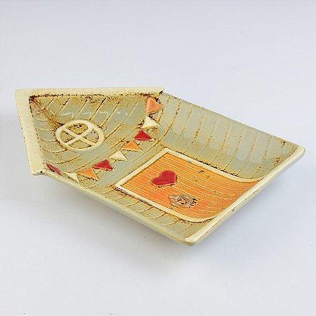 Petisqueira Casa Coração em Cerâmica