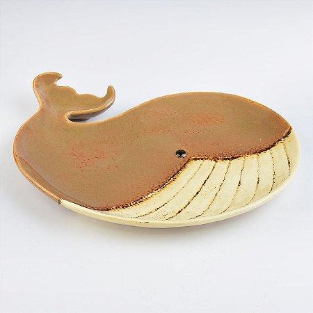 Petisqueira Baleia Marrom em Cerâmica