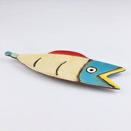 Petisqueira Peixe Arte Color em Cerâmica