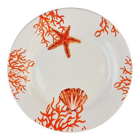 Prato Raso Náutico Coral Laranja