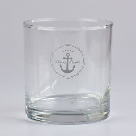 Copo de Whisky Welcome Aboard