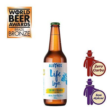 Cerveja Albanos Life Lager 355ml | Zero Carboidrato