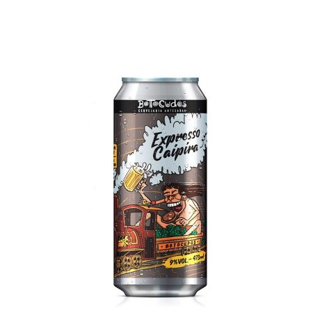 Cerveja Botocudos Expresso Caipira West Coast Double IPA 473ml