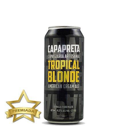 Cerveja Capa Preta Tropical Blonde American Cream Ale 473ml