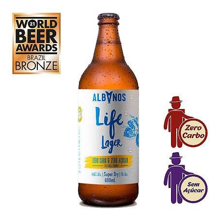 Cerveja Albanos Life Lager 600ml   Zero Carboidrato