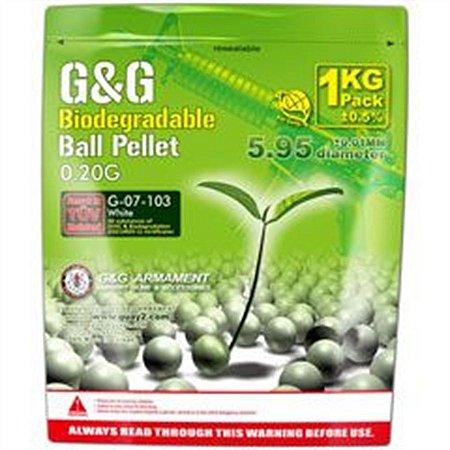 Bolinha BBs G&G Bio 20g 1k White