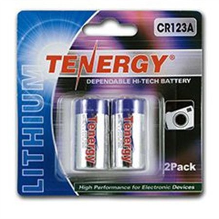 Bateria Tenergy Lithium CR123A 3v 2 Pack