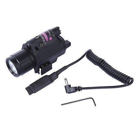 Mira V Tatical Laser com Lanterna LED