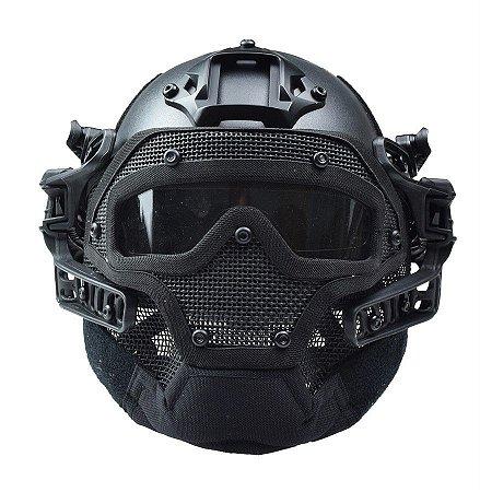 Capacete RTQ G4 System Full Mask Preto