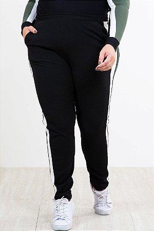 Calça jogging com bolso plus size