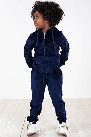 Conjunto plush infantil jaqueta e calça