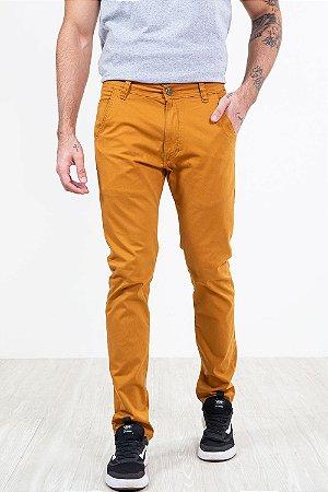 Calça sarja skinny com bolso lisa