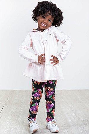 Conjunto moletom infantil blusa e legging milon