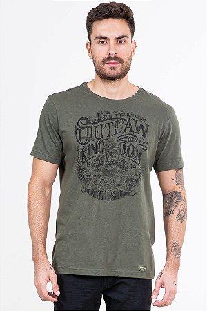 Camiseta manga curta com estampa colisão