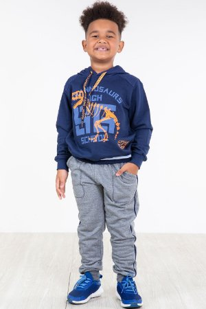 Conjunto moletom infantil blusão e calça angerô