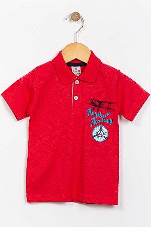 Camiseta infantil manga curta gola polo brandili