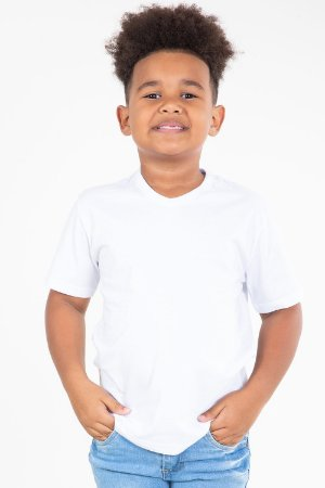 Camiseta infantil manga curta lisa kyly
