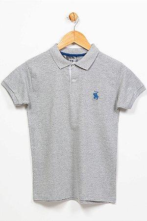 Camiseta juvenil manga curta gola polo