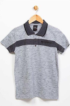 Camiseta juvenil gola polo manga curta bgo