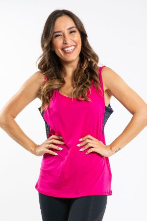 Blusa poliester telinha lateral fitness