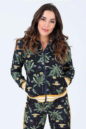 Jaqueta bomber floral lunender
