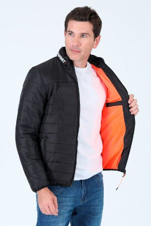 Jaqueta de nylon matelassê