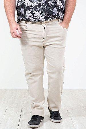Calça de sarja com bolso plus size