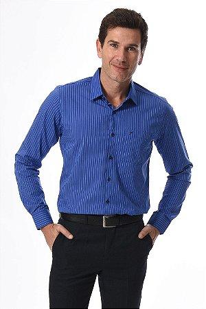 Camisa manga longa reta