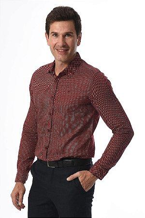 Camisa manga longa estampada slim