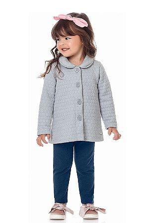 Conjunto infantil casaco com legging
