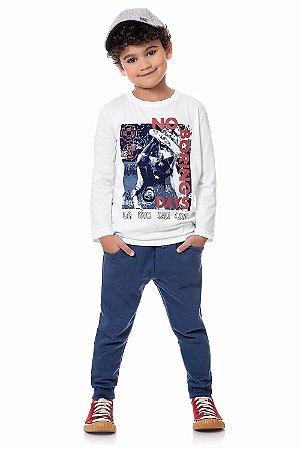 Conjunto infantil camiseta manga longa com calça moletom