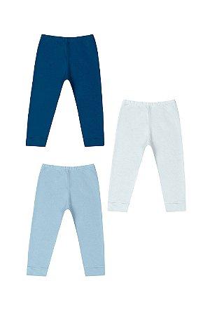 Kit calça (culote) sem pé 3 peças lisa em suedine