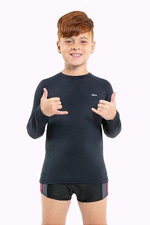 Camiseta juvenil manga longa com proteção uv 50+