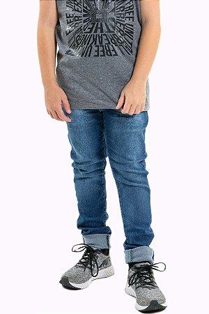 Calça jeans juvenil skinny com cinto