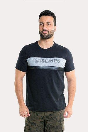 Camiseta manga curta com recorte horizontal