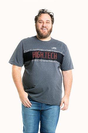 Camiseta manga curta estampa high tech