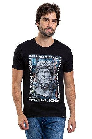 Camiseta manga curta estampa Impressione