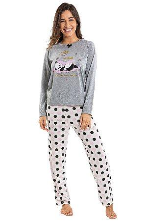 Pijama manga longa estampa i need to sleep