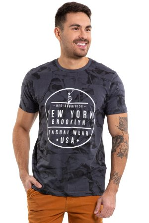 Camiseta manga curta print new york