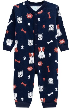 Pijama infantil longo em moletom kyly