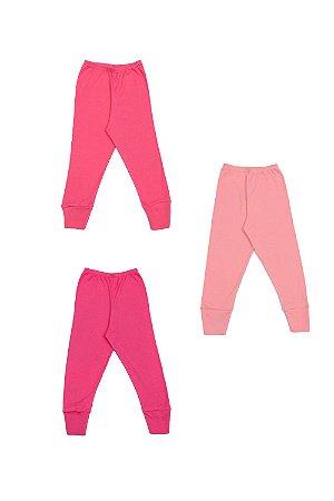Kit calça (culote) 3 peças com pé reversível liso em suedine best club