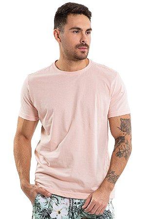 Camiseta manga curta gola redonda