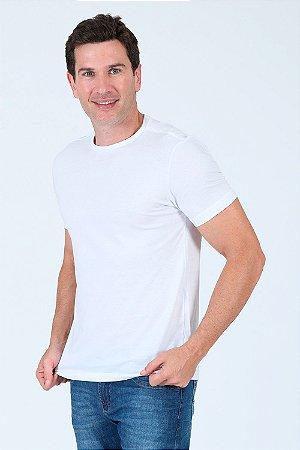 Camiseta manga curta gola careca lisa
