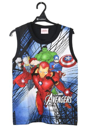 Regata machão estampa marvel avengers