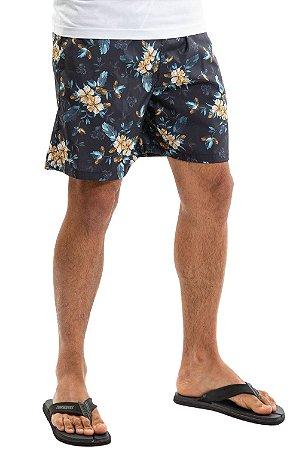 Shorts floral c/ bolso