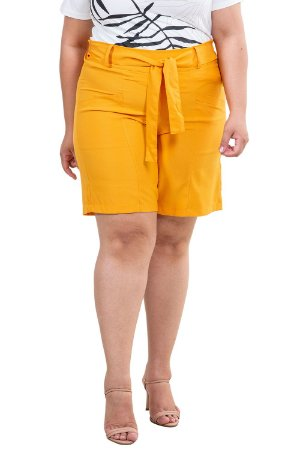 Shorts clochard liso com bolso plus size